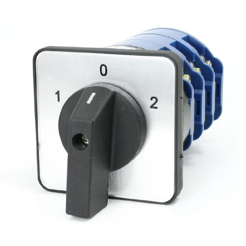 09 660V 125A ON/OFF/ON 3 Position Rotary Cam Changeover Switch LW28-125/3 ()