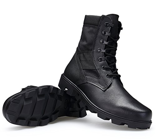 ENLEN and BENNA Mens Combat Boots Military Boots Tactical Leather Jungle Boots Desert Boots Black Composite Toe Lightweight Black 8.5 M US by ENLEN&BENNA (Image #6)