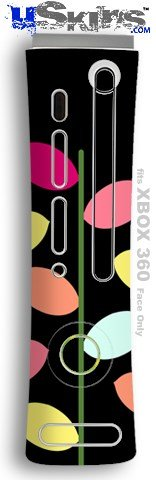 XBOX 360 Faceplate Skin - Plain Leaves On Black