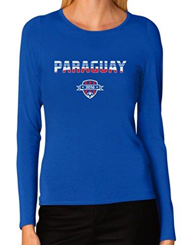 Paraguay National Soccer Team 2016 Paraguayan Fans Women Long Sleeve T-Shirt XX-Large Blue ()
