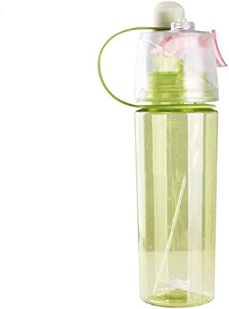 TcooLPE Botella de Agua Delgada a Prueba de Fugas, plástico, no tóxico, plástico, Agua, Taza de Agua, Botella ecológica for niños, Adultos, Deportes, Oficina (Color : A, Size : 600ml): Amazon.es: Hogar