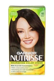 Nutrisse Crème Nourrissante Couleur # 10 Black par Garnier pour unisexe - 1 Application Couleur des cheveux