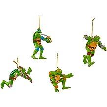 """Kurt Adler Teenage Mutant Ninja Turtles Ornament (Set of 4), 2.5 to 3.5"""""""