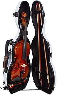 Estuche para violín fibra Ultra Light 4/4 special silver M-Case: Amazon.es: Instrumentos musicales