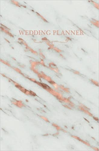 Wedding Planner Rose Gold Marble Blank Planning Notebook 110 Lined Pages 525 X 8 Stylish Journal For Bride Place Where She Can Keep