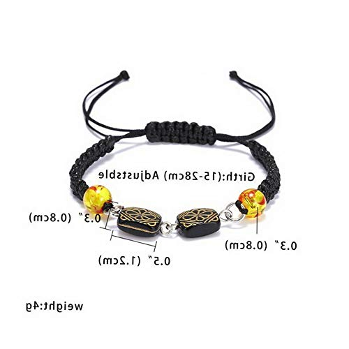 Florance jones Men Punk Vintage Weave Bracelet Bangle Jewelry Valentines Day Gift | Model BRCLT - 44318 | ()