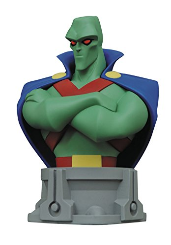 Diamond Select Toys Justice League Unlimited Animated Series Martian Man Hunter Resin Bust