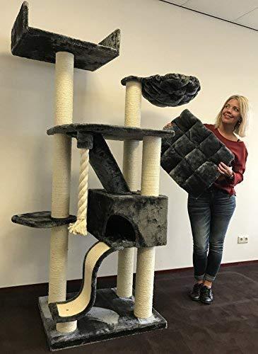 Rascador para gatos grandes Kilimandjaro de Luxe Gris oscuro baratos arbol xxl maine coon gato gigante