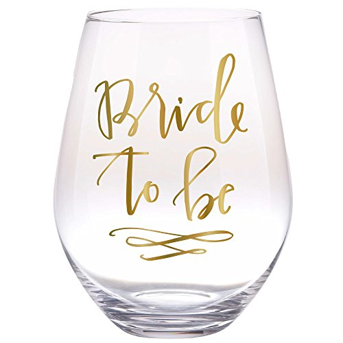 30 oz Bride To Be Huge Stemless Wine Glass - Perfect Engagement Gift, Bride Gift, Bridal Shower Gift