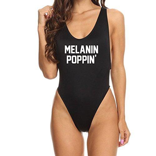 717018f2e1 Amazon.com: Black Melanin Poppin High Cut Sexy One Piece Womens Bathing Suit:  Handmade
