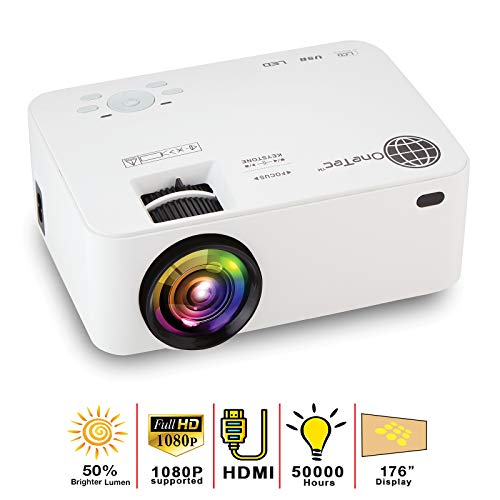- MacStein Home Theater Projector - 1080P Supported - 1800+ Lumens - 176