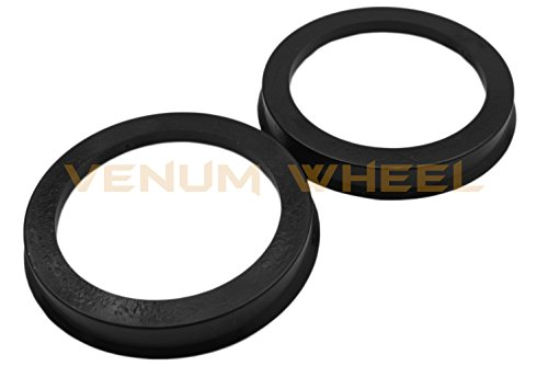4 Hub Centric Rings 106 ID To 108 OD Black Polycarbonate Material ( Vehicle 106mm to Wheel 108mm) by Venum wheel accessories (Image #3)