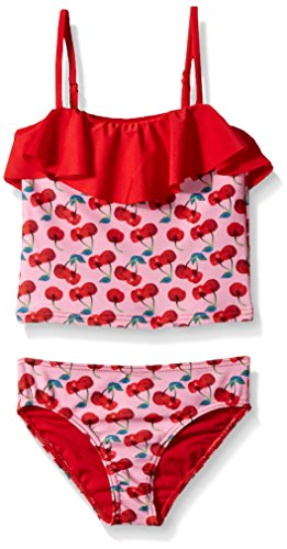 Jantzen Little Girls' 2 piece set Tankini, Cherry Print, 4 ()