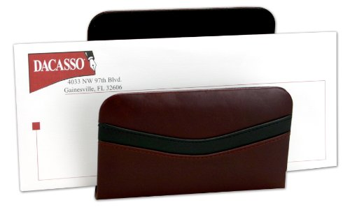 Contemporary Leather Letter - Dacasso Burgundy Leather Letter Holder