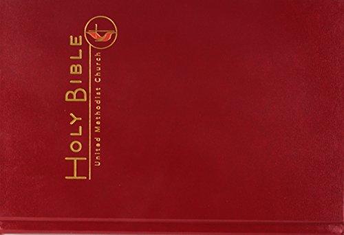 CEB Common English Large Print Pew Bible, Dark Red UMC Emblem
