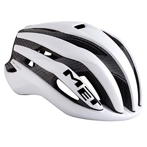 [해외]메트로 トレンタ 3K 카본 화이트 헬멧 S (5256cm) / Met Trenta 3k Carbon white helmet S (5256cm)