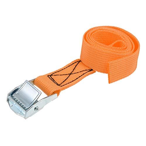 uxcell 荷物ストラップ ラチェット式 ベルト 荷物固定ロープ 荷物落下防止 カムバックル付き ロード250Kg 0.8Mx25mm オレンジ