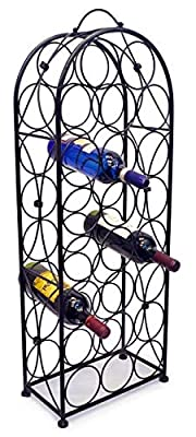 Sorbus Wine Rack Stand Bordeaux Chateau Style - Holds 23 Bottles of Your Favorite Wine - Elegant Looking French Style Wine Rack to Compliment Any Space - No Assembly Required