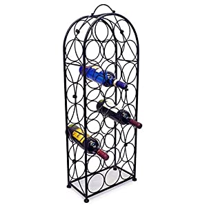 Sorbus Wine Rack Stand Bordeaux Chateau Style – Holds 23 Bottles of Your Favorite Wine – Elegant Looking French Style Wine Rack to Compliment Any Space – No Assembly Required