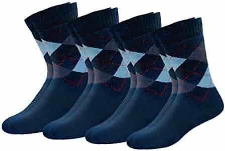 Men Multicolored Pattern Fashionable Fun Crew Cotton Socks Chanwazibibiliu Light Blue Chevron Gray Anchor Pattern Mens Colorful Dress Socks Funky