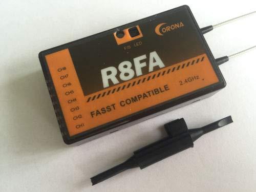 SAUJNN Corona R8FA FASST Compatible 2.4Ghz 8Ch Receiver for FUTABA Transmitter 8FG 7C