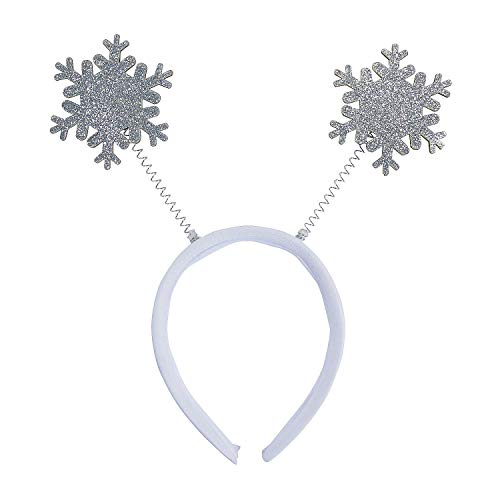 Fun Express - Glitter Snowflake Head Boppers - Christmas Item for Boys and Girls of All Ages - Great for the Festivities -