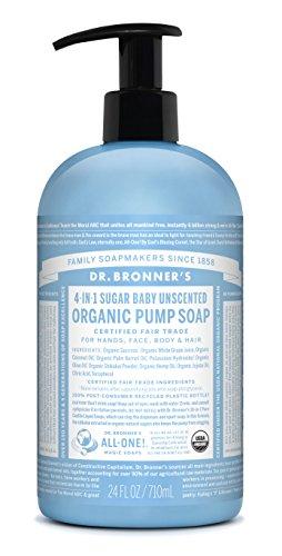 Dr Bronner's, Organic Hand & Body Shikakai Soap, Baby Unscented, 24 Ounce 1 Dr. Bronneras Organic Baby Unscented Sugar Soap. 4-in-1 Organic Pump Soap for Home and Body (24 oz). Dr. Bronneras Organic Baby Unscented Sugar Soap. 4-in-1 Organic Pump Soap for Home and Body (24 oz). Dr. Bronneras Organic Baby Unscented Sugar Soap. 4-in-1 Organic Pump Soap for Home and Body (24 oz).