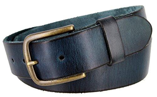 Men's Genuine Full Grain Leather Casual Jeans Belt 1-1/2