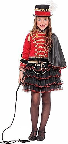 Italian Made Deluxe Girls 4 Piece Circus Ringmaster Ringleader Carnival World Book Day Fancy Dress Costume Outfit 3-10 Yrs (8 Years) ()