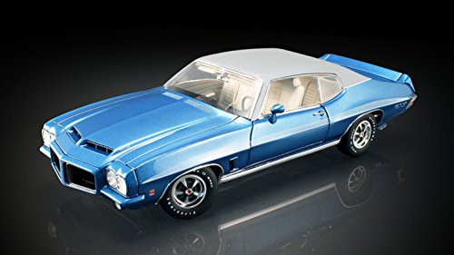 ACME 1972 Pontiac LeMans in Lucern Blue w / White Vinyl Top Diecast Model Car 1:18 A1801204VT (Engine Lemans Pontiac)