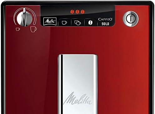 Melitta Caffeo Solo E950-104, Cafetera Automática con Molinillo, 15 Bares, Café en Grano para Espresso, Limpieza Automática, Personalizable, Rojo: Amazon.es: Hogar