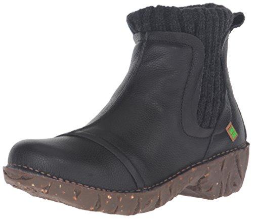 El Naturalista Ne23 Soft Grain Yggdrasil, Stivali Chelsea Donna, Nero (Black), 39 EU