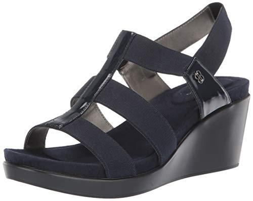 Bandolino Footwear Women's ALBA Wedge Sandal, Navy, 9 Medium -