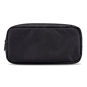 ERCENTURY Universal Electronics/Accessories Soft Carrying Case Bag, Durable & Light-weight,Suitable for Out-going, Business, Travel and Cosmetics Kit (Black-Big)
