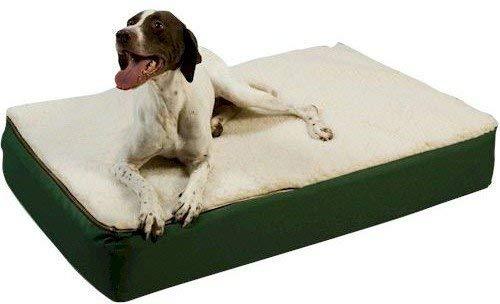 (Snoozer Super Orthopedic Lounge Pet Bed, Large, Hazelnut with Creme Sherpa)
