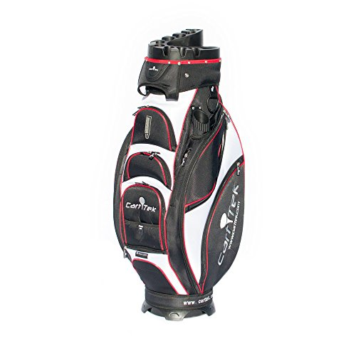 CartTek Cart Golf Bag Fits Electric and Remote Control Golf Caddies - Red Cart Tek Golf Carts