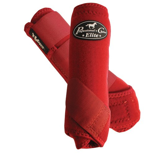 Professional's Choice Equine Sports Medicine Ventech Elite Leg Boot Value Pack, Set of 4 B003R2O05E Large|Crimson Red