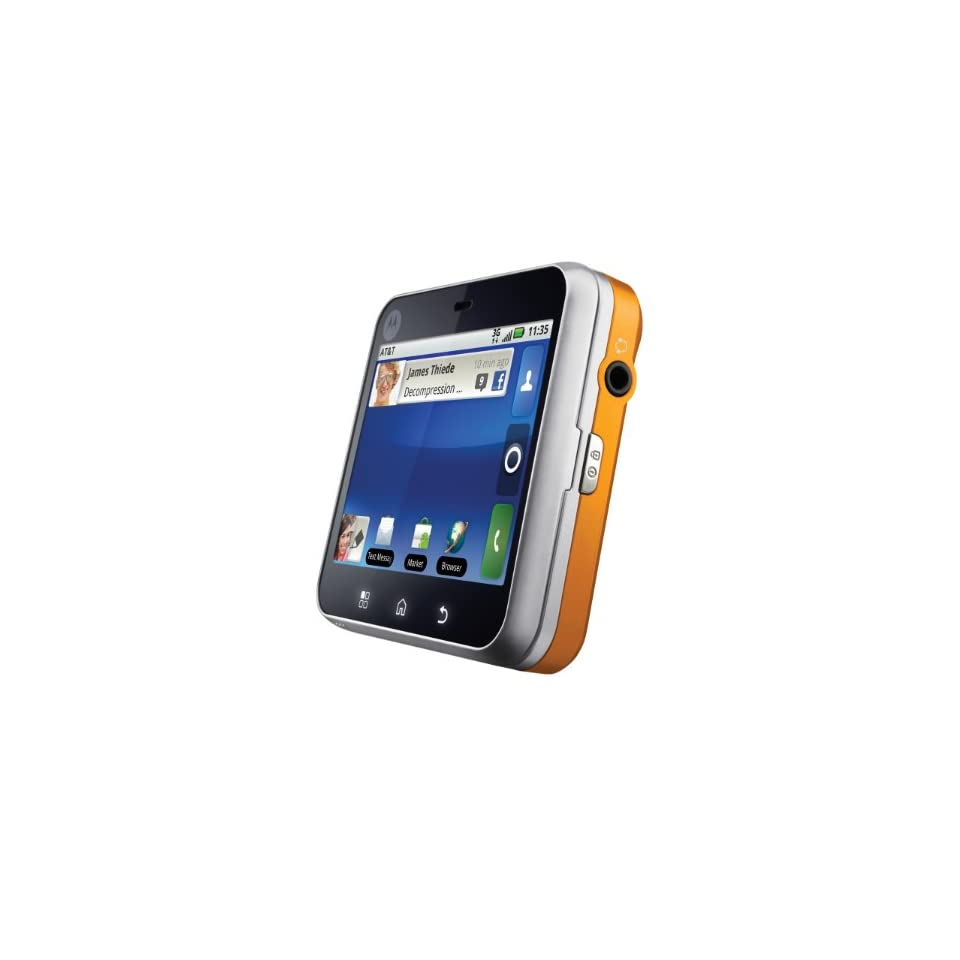 Motorola Flipout MB511 Unlocked GSM Phone with 3G, Quad Band, Android 2.1, QWERTY Keyboard, 3.1MP Camera, Bluetooth and Wi Fi   Saffron/Orange