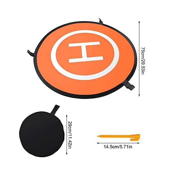CHUER Drone Landing Pad, Universal Waterproof (D 75cm/30) Landing Pad Pieghevole Portatile per Elicotteri RC Drone, Droni PVB, DJI Mavic PRO Phantom 2/3/4 PRO, Antel Robotic 2 spesavip