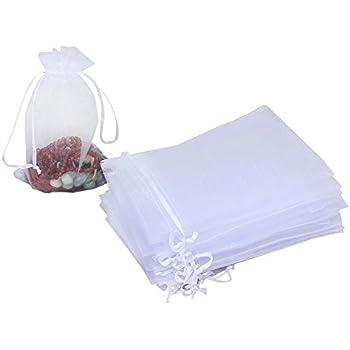 Amazon.com: Bolsas Mudder de regalo de organza color blanco ...