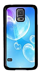 awesome Samsung Galaxy S5 covers Blue Bubble Love Heart PC Black Custom Samsung Galaxy S5 Case Cover
