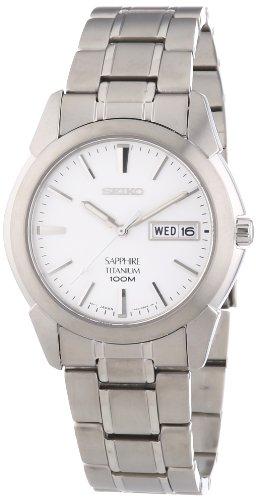 Seiko Men's Analogue Quartz Watch with Titanium Bracelet - SGG727P1 (Seiko Titanium Day Date)