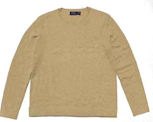 Polo Ralph Lauren Women's Merino Wool Blend Crewneck Sweater (Brown, X-Small)