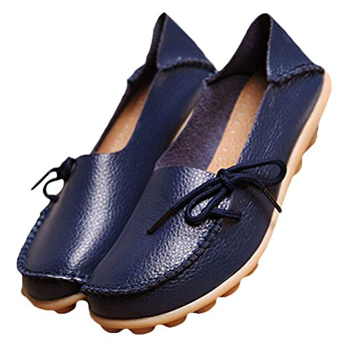6 Femmes Taille Mocassins Qiusa Pour 5 En Des Chaussures Et Uk À Confort Cuir Compensées Semelles coloré navy 5 Style Le 1 Travail 1qqzwUpx
