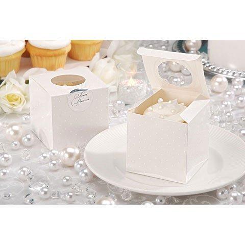 Bulk Buy: Darice DIY Crafts David Tutera Cupcake Box Swiss Dot Cream 3.5 inches 12 pieces (3-Pack) DT1404-281