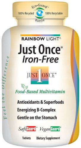 Rainbow Light Just Once Iron-Free Multivitamin  SafeGuard  Tablets   120 tablets