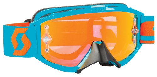 Scott Sports 89Si Pro Youth Goggles (Oxide Electric Blue Frame/Orange Chrome (Orange Chrome Lens)