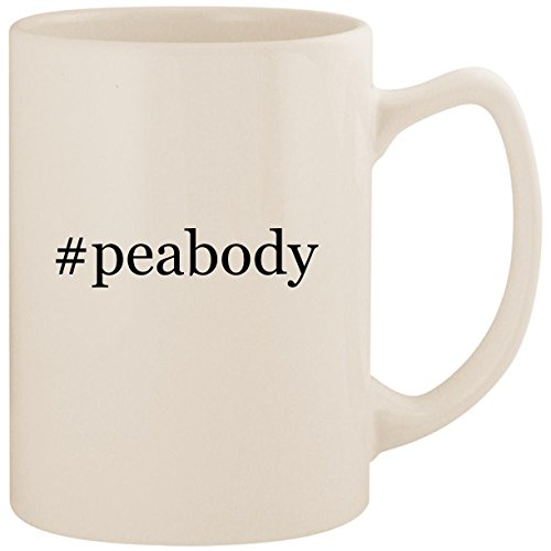 (#peabody - White Hashtag 14oz Ceramic Statesman Coffee Mug)
