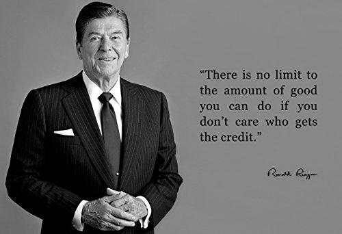 Ronald Portrait Reagan (Ronald Reagan Poster Photo Picture Framed Quote