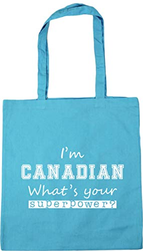 Surf Superpower 42cm litres Blue x38cm Tote Canadian Shopping Bag Gym Beach I'm What's 10 HippoWarehouse Your wqfOxH6Iq